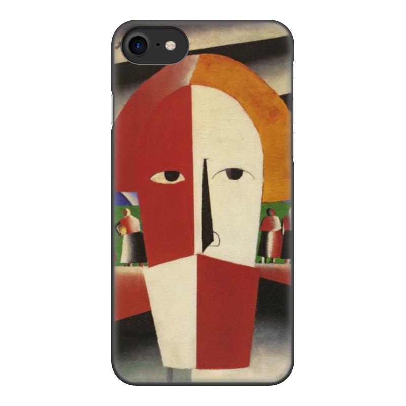 Чехол для iPhone 8, объёмная печать Printio Голова крестьянина (казимир малевич) цена