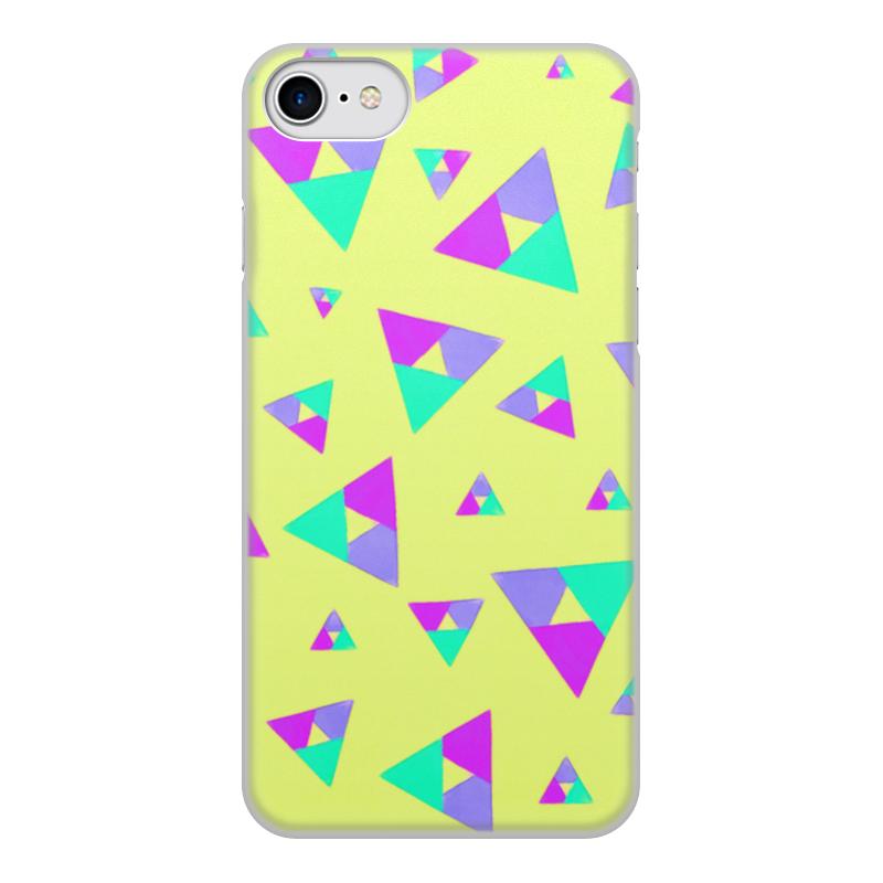 цена на Чехол для iPhone 8, объёмная печать Printio Треугольник 1