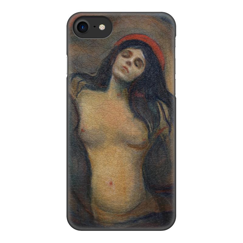 Чехол для iPhone 8, объёмная печать Printio Мадонна (картина мунка)