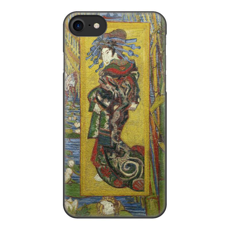 Чехол для iPhone 8, объёмная печать Printio Куртизанка (винсент ван гог) цена и фото