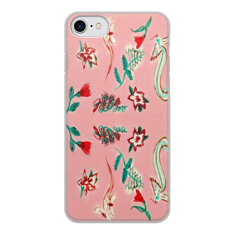 Чехол для iPhone 8, объёмная печать Printio Цветочная сказка цена