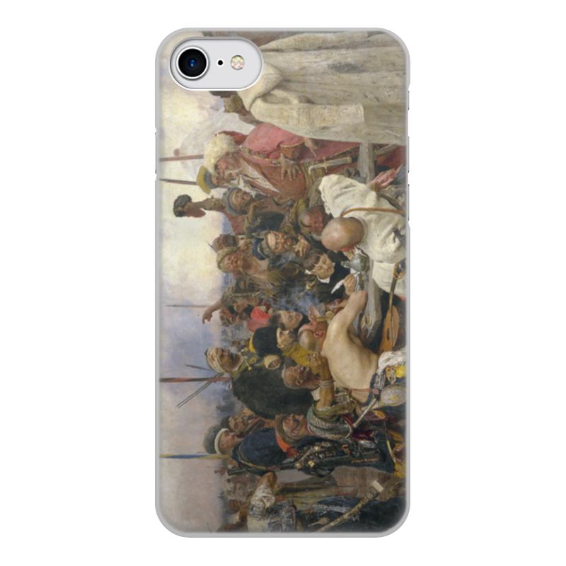 лучшая цена Чехол для iPhone 8, объёмная печать Printio Запорожцы (картина репина)