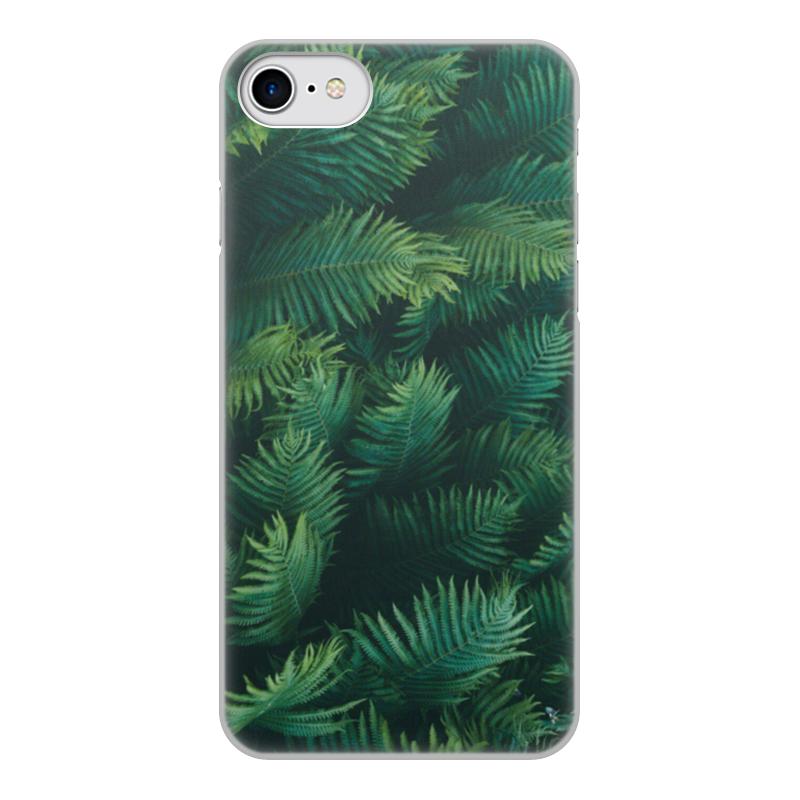 Чехол для iPhone 8, объёмная печать Printio Листья папоротника цена
