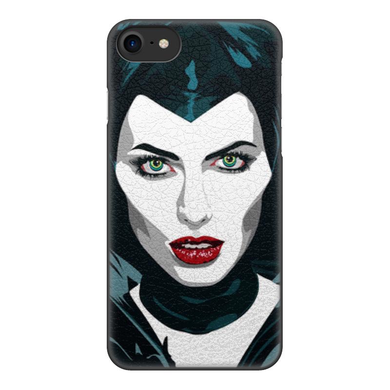 цена на Чехол для iPhone 8, объёмная печать Printio Maleficent (анджелина джоли)