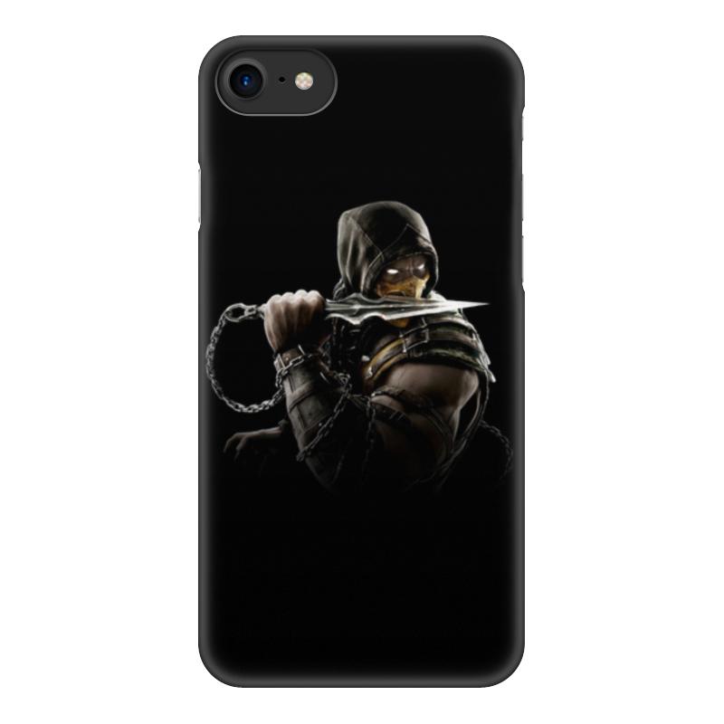 Чехол для iPhone 8, объёмная печать Printio Mortal kombat (scorpion) чехол для iphone 5 5s объёмная печать printio mortal kombat scorpion