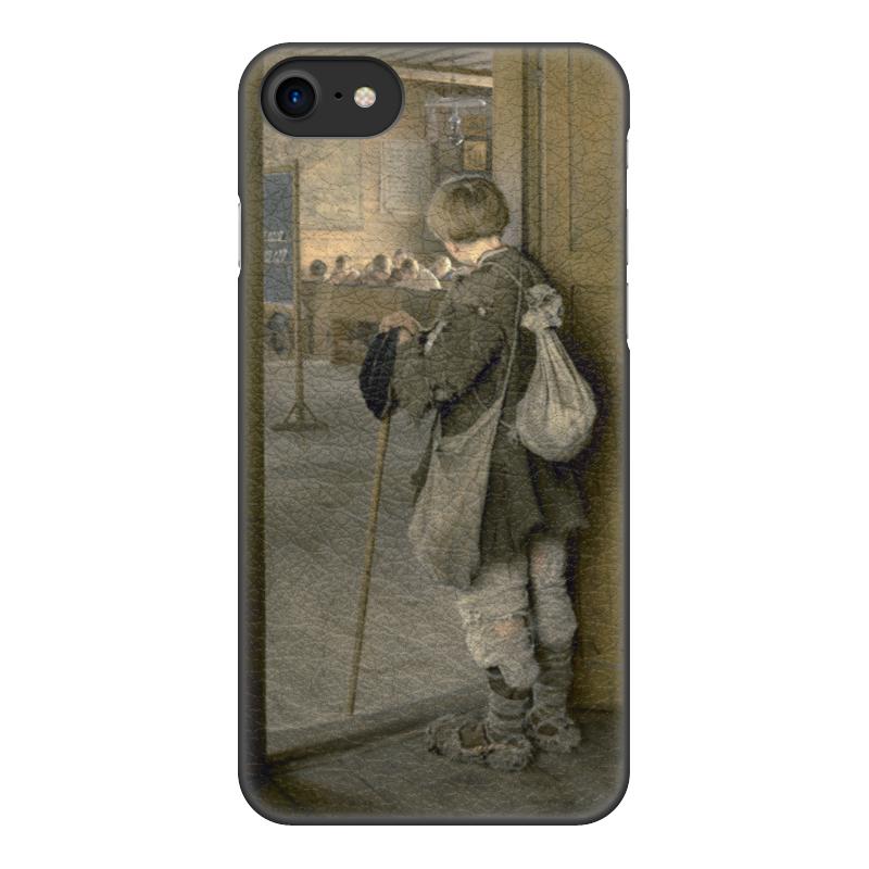 Чехол для iPhone 8, объёмная печать Printio У дверей школы (богданов-бельский)