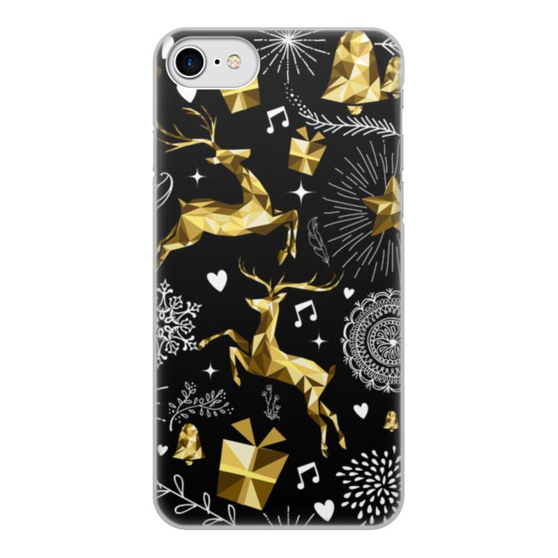Чехол для iPhone 8, объёмная печать Printio Олени boom case чехол для iphone 4 4s жаккардовые олени