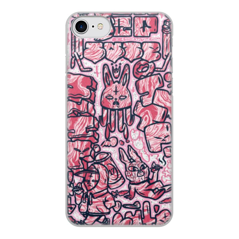 Чехол для iPhone 8, объёмная печать Printio Rough hares rough