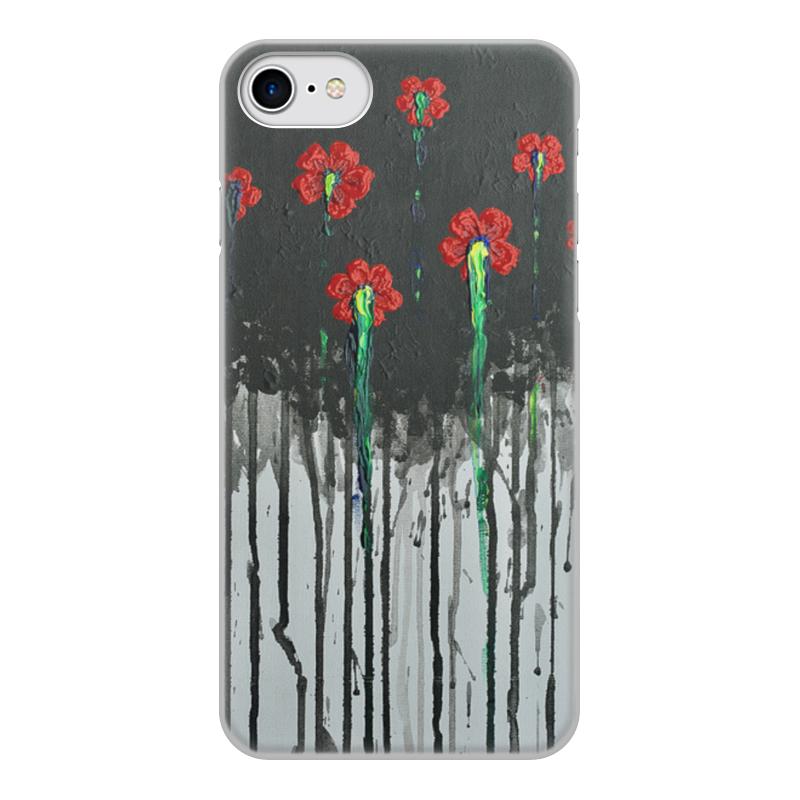Чехол для iPhone 8, объёмная печать Printio Красные маки бомбер printio красные маки