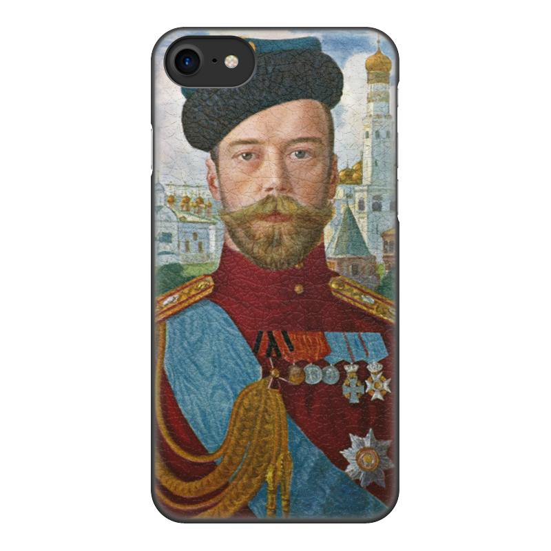 лучшая цена Чехол для iPhone 8, объёмная печать Printio Царь николай ii (борис кустодиев)