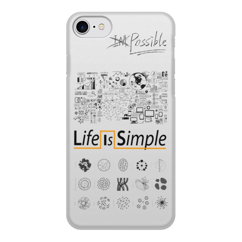Чехол для iPhone 8, объёмная печать Printio Life is simple цена и фото