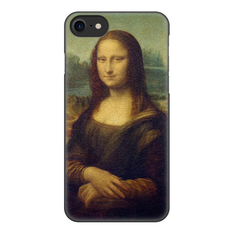 Чехол для iPhone 8, объёмная печать Printio Мона лиза чехол для iphone 5 printio с именем лиза