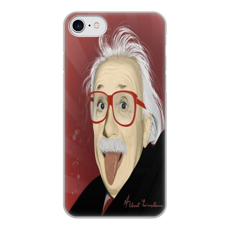 Чехол для iPhone 8, объёмная печать Printio Эйнштейн чехол для iphone 5 printio с именем тамара