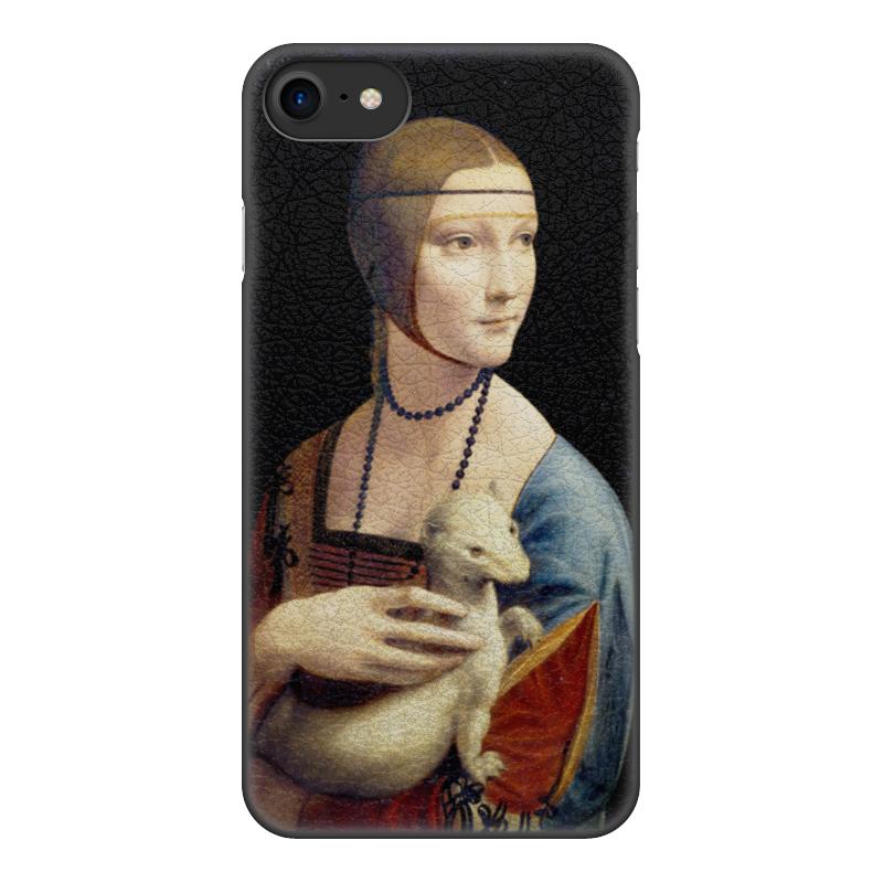 Чехол для iPhone 8, объёмная печать Printio Дама с горностаем (леонардо  винчи)