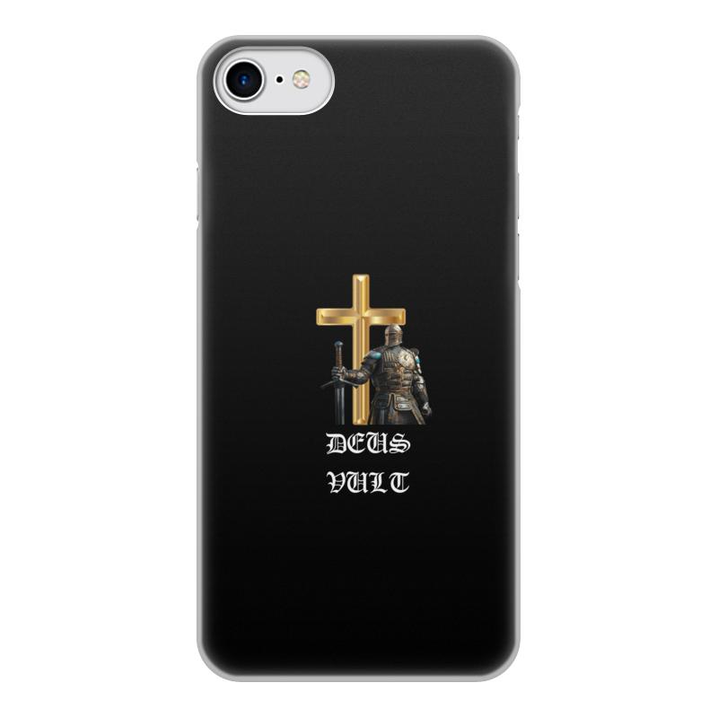 Чехол для iPhone 8, объёмная печать Printio Deus vult. крестоносцы