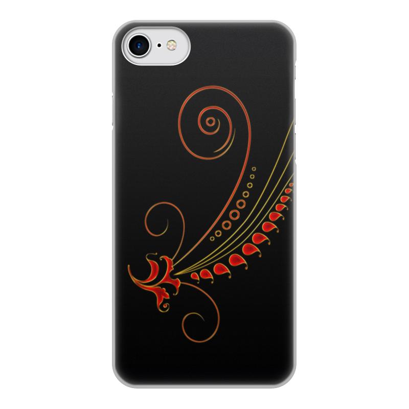 Фото - Чехол для iPhone 8, объёмная печать Printio Узоры чехол для iphone 5 глянцевый с полной запечаткой printio deadpool vs punisher