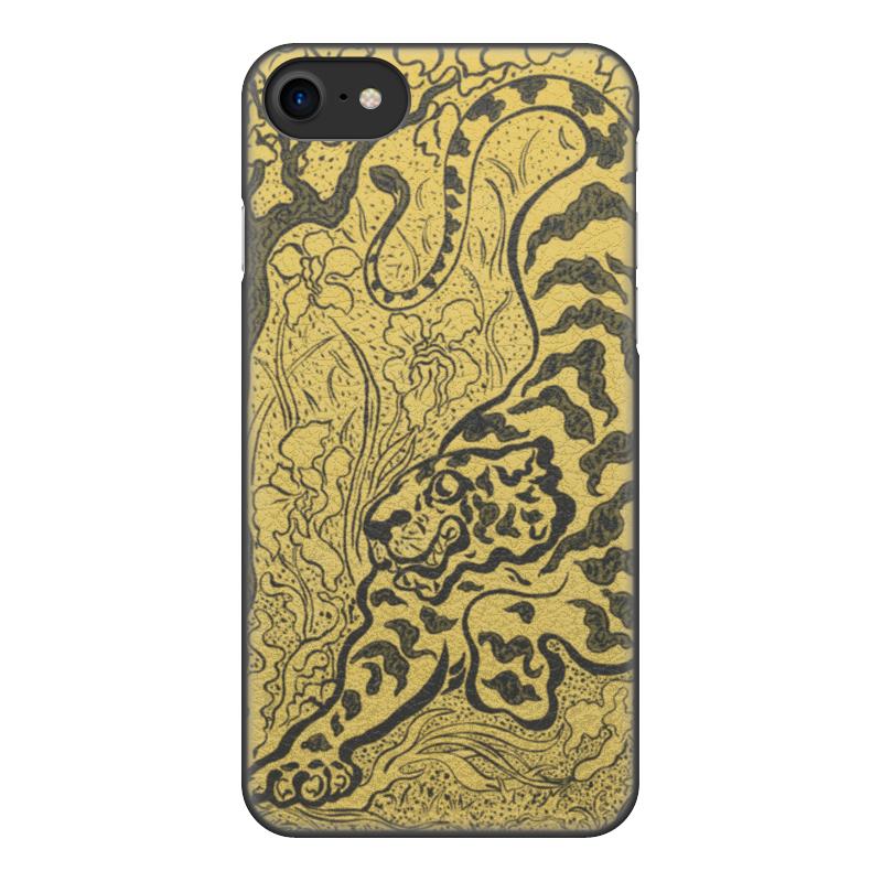 Чехол для iPhone 8, объёмная печать Printio Тигр в джунглях (поль-элье рансон) тигр дизайн кожа pu откидной крышки кошелек карты держатель чехол для lg nexus 5x