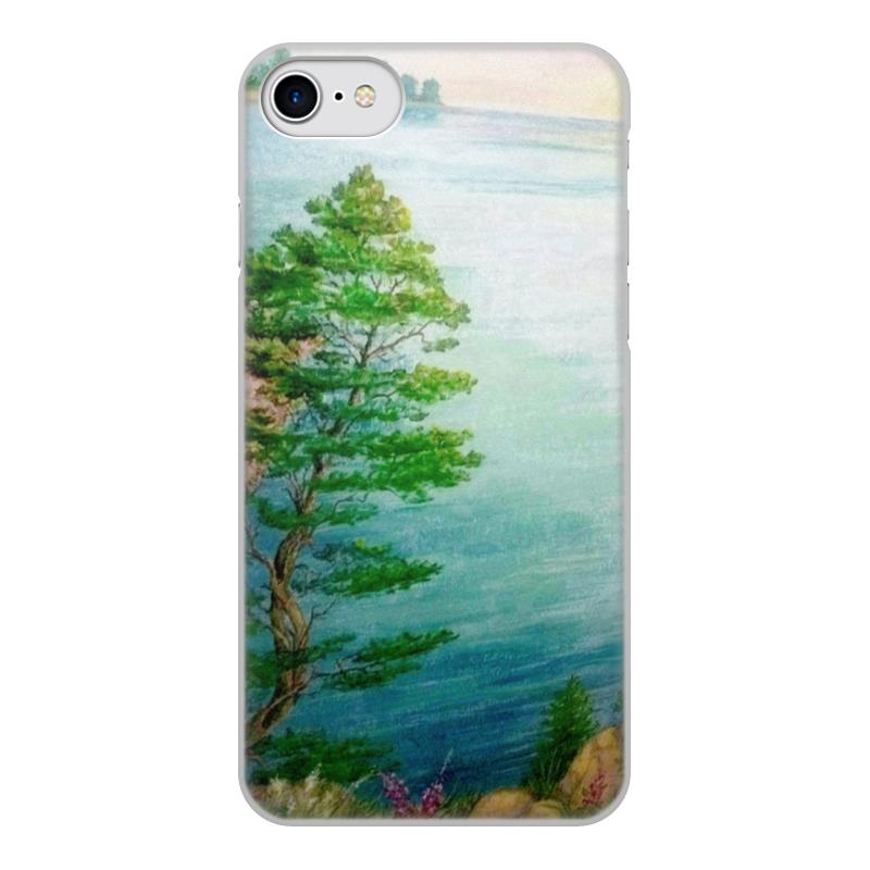 лучшая цена Чехол для iPhone 8, объёмная печать Printio Песчаный берег
