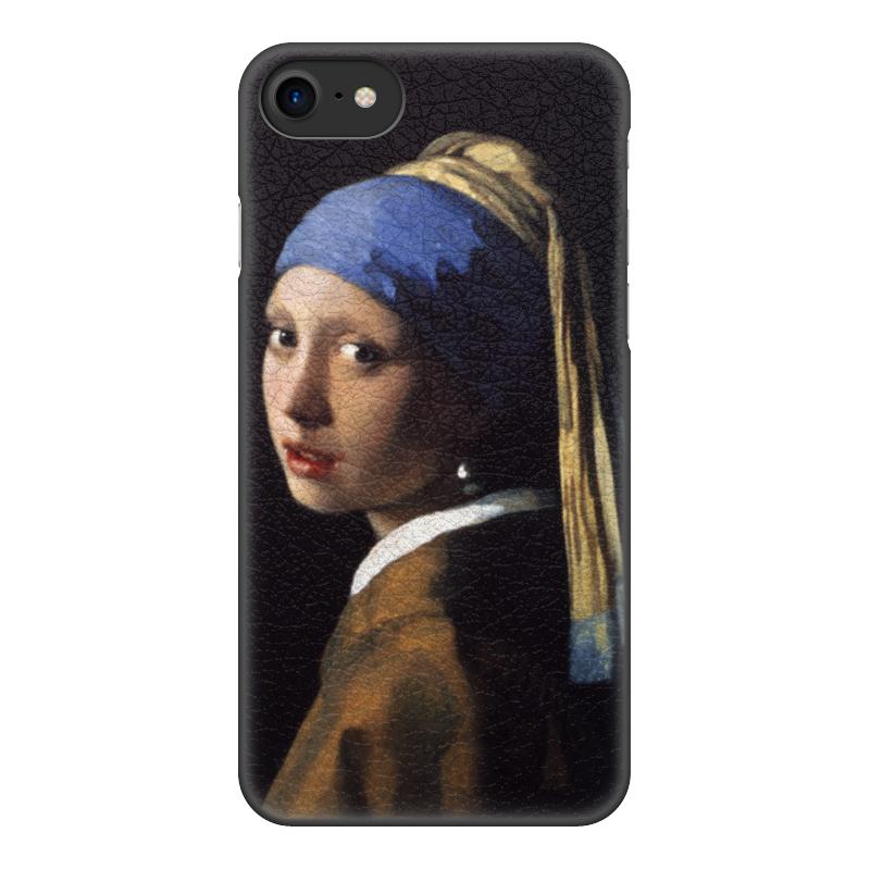 Чехол для iPhone 8, объёмная печать Printio Девушка с жемчужной серёжкой (ян вермеер) pr m28veзеркальце девушка с жемчужной сережкой ян вермеер museum parastone