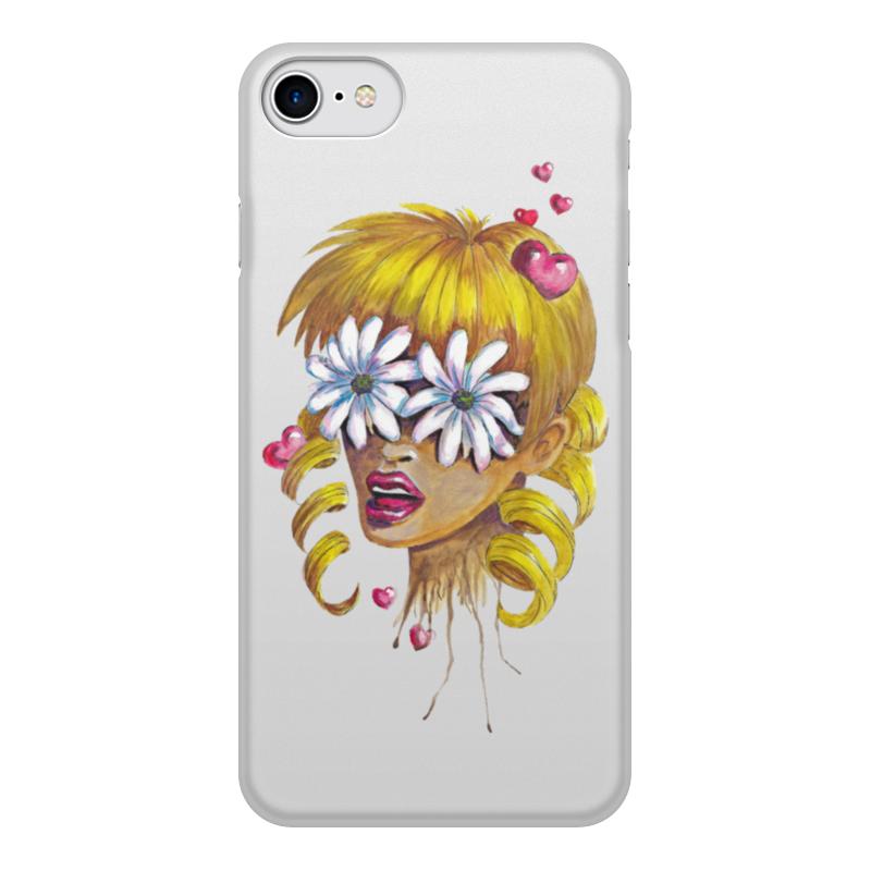 лучшая цена Чехол для iPhone 8, объёмная печать Printio Без ума от цветов