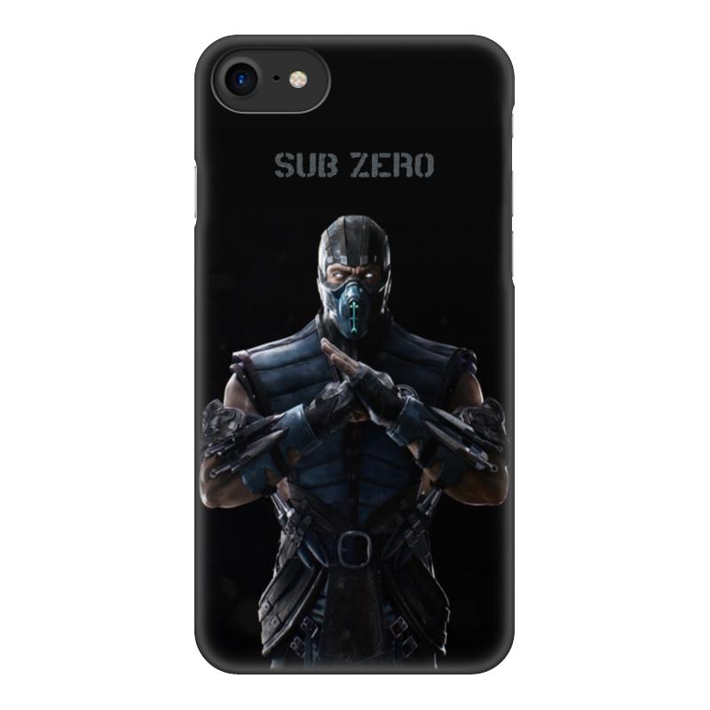 Чехол для iPhone 8, объёмная печать Printio Mortal kombat x (sub-zero) чехол для iphone interstep для iphone x soft t metal adv красный
