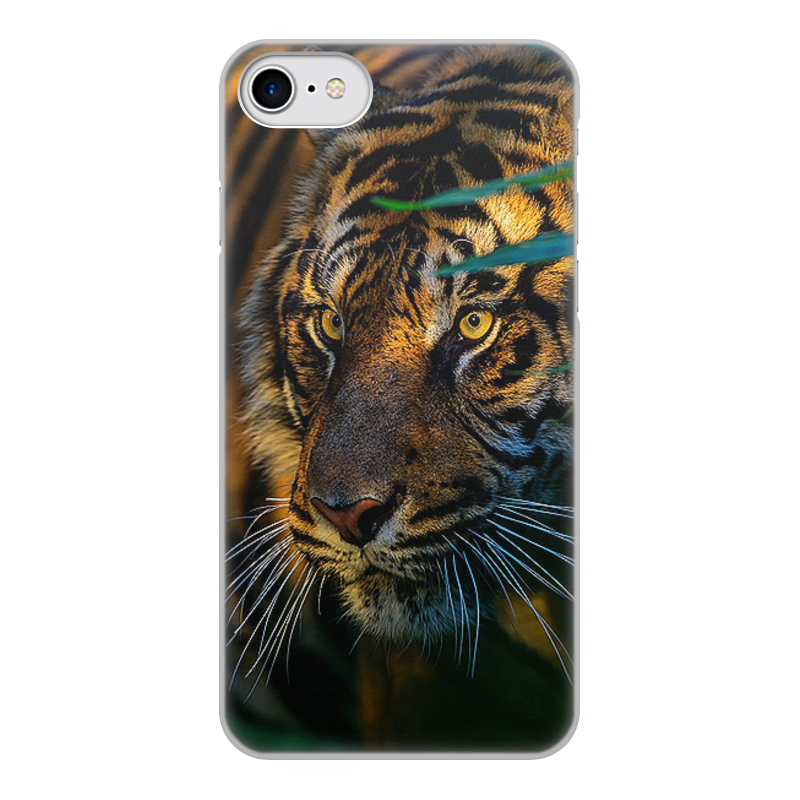 Чехол для iPhone 8, объёмная печать Printio Тигры цена и фото