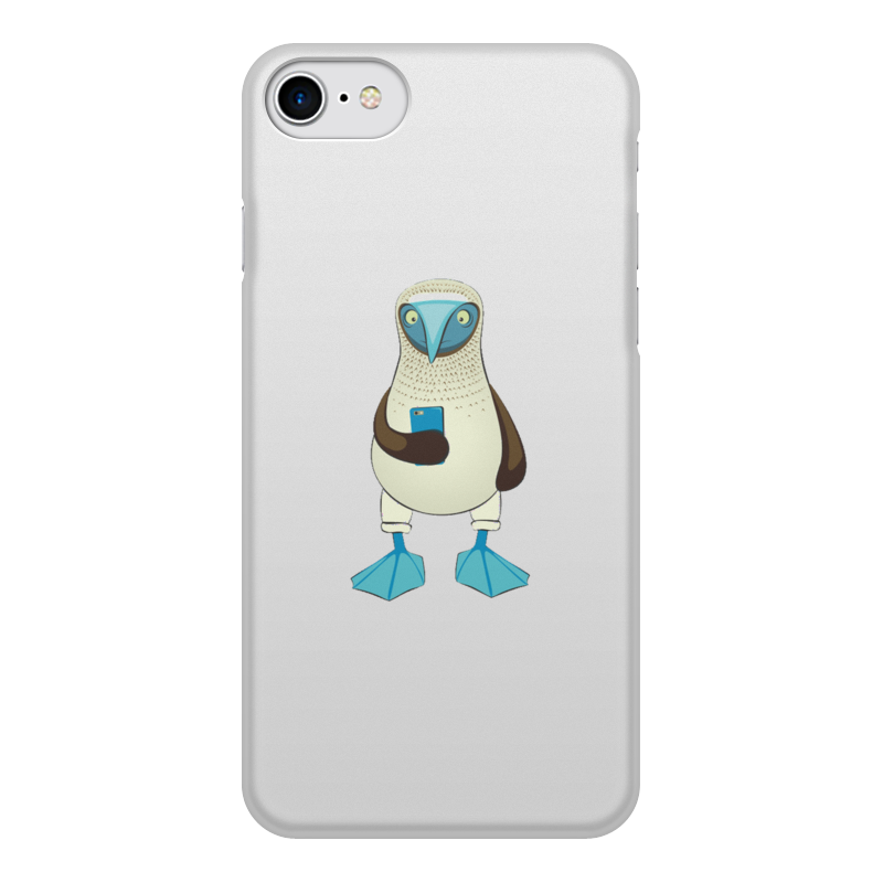 Чехол для iPhone 8, объёмная печать Printio Blue-footed booby liberty booby