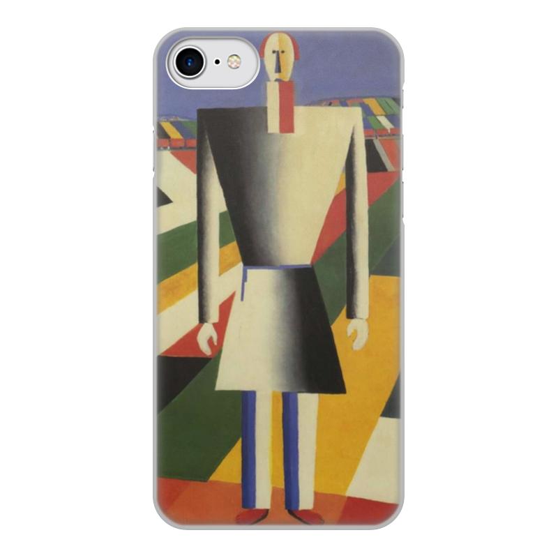 лучшая цена Чехол для iPhone 8, объёмная печать Printio Крестьянин в поле (казимир малевич)