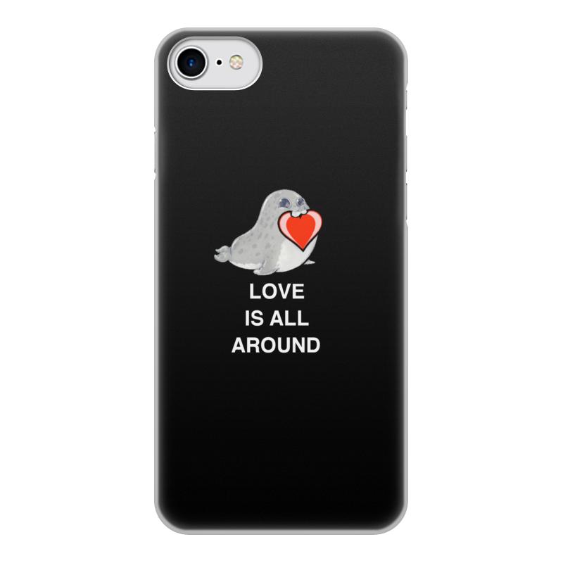 Чехол для iPhone 8, объёмная печать Printio Love. тюлень. любовь. чехол для iphone 4 глянцевый с полной запечаткой printio любовь наше сопротивление