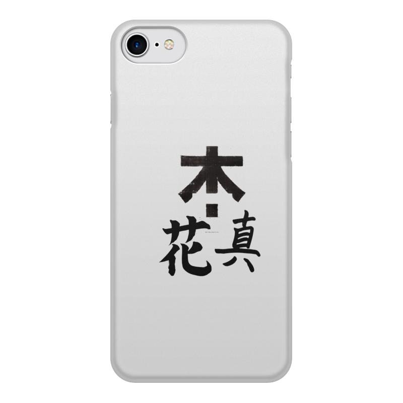 Чехол для iPhone 8, объёмная печать Printio Япония. минимализм чехол для iphone 4 глянцевый с полной запечаткой printio япония минимализм