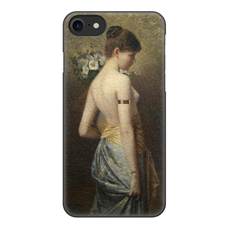 Чехол для iPhone 8, объёмная печать Printio Флора (макс нонненбрух) цена