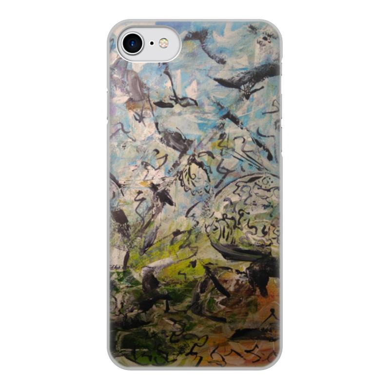 Фото - Чехол для iPhone 8, объёмная печать Printio Абстракция чехол для iphone 5 глянцевый с полной запечаткой printio deadpool vs punisher