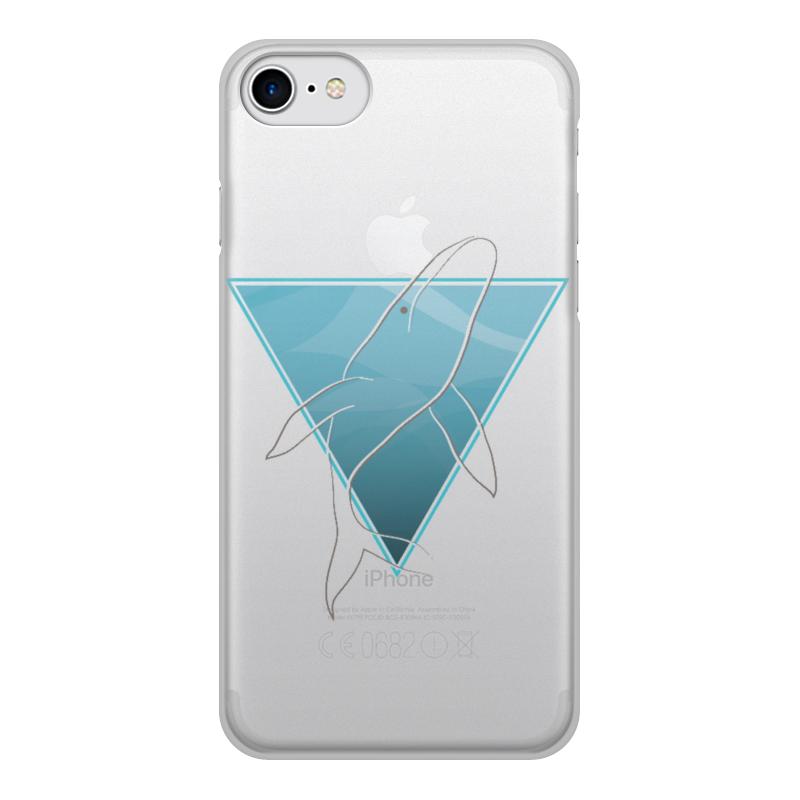 купить Чехол для iPhone 8, объёмная печать Printio Кит в морском треугольнике по цене 1080 рублей