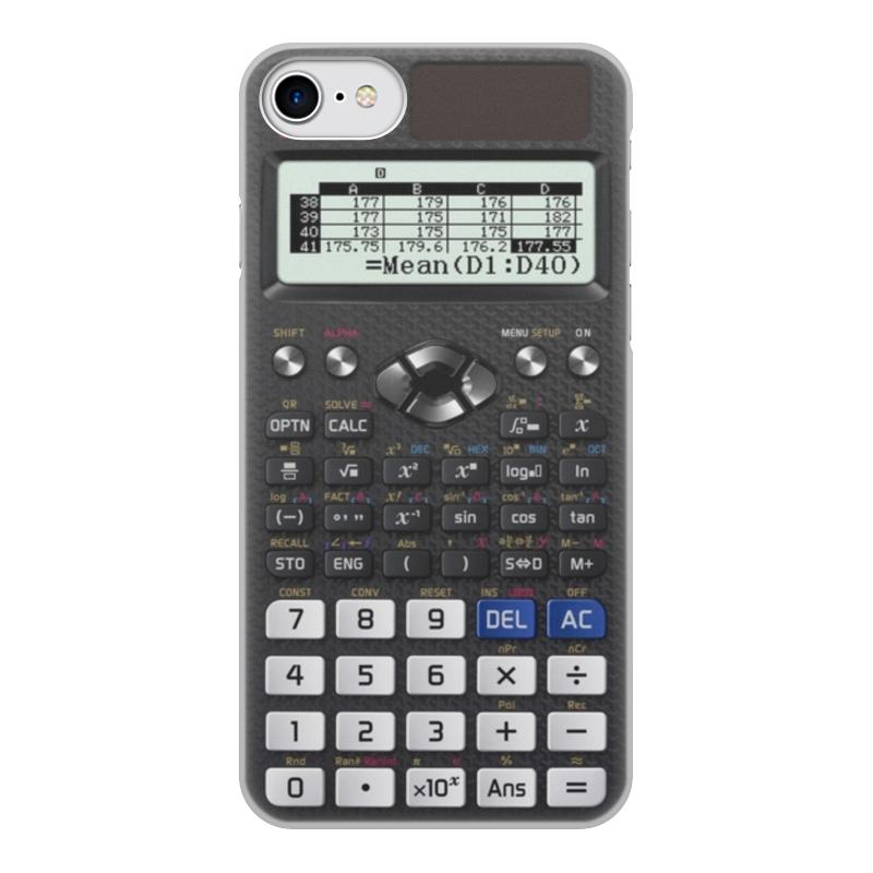 Чехол для iPhone 8, объёмная печать Printio Калькулятор инженерный
