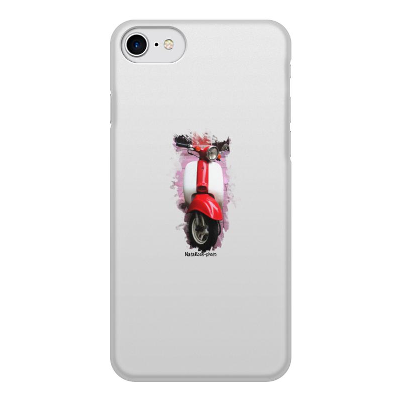 Чехол для iPhone 8, объёмная печать Printio Скутер купить б у японский скутер в одессе