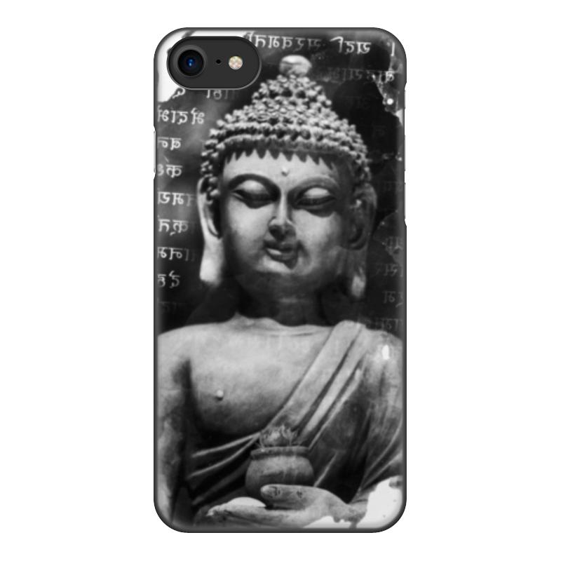 лучшая цена Чехол для iPhone 8, объёмная печать Printio Будда (письмена)