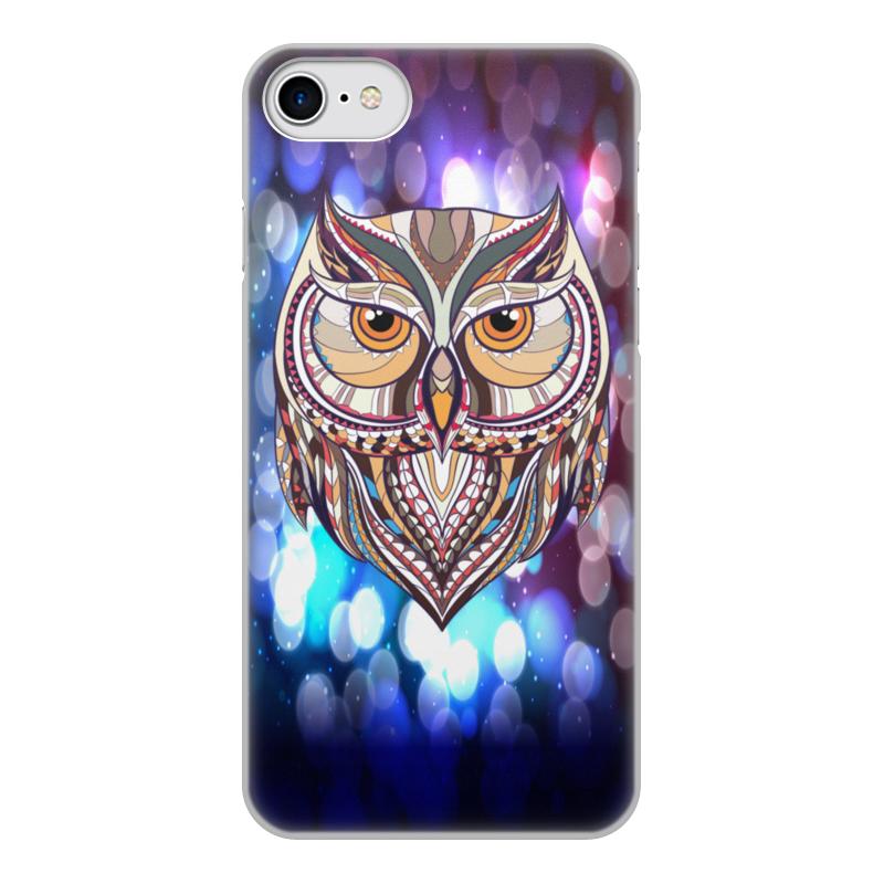 купить Чехол для iPhone 8, объёмная печать Printio Сова в красках по цене 1080 рублей