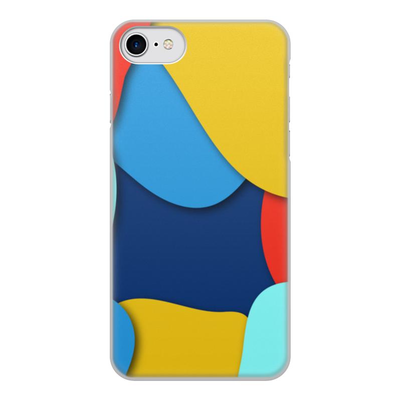 Чехол для iPhone 8, объёмная печать Printio Разноцветная абстракция цена