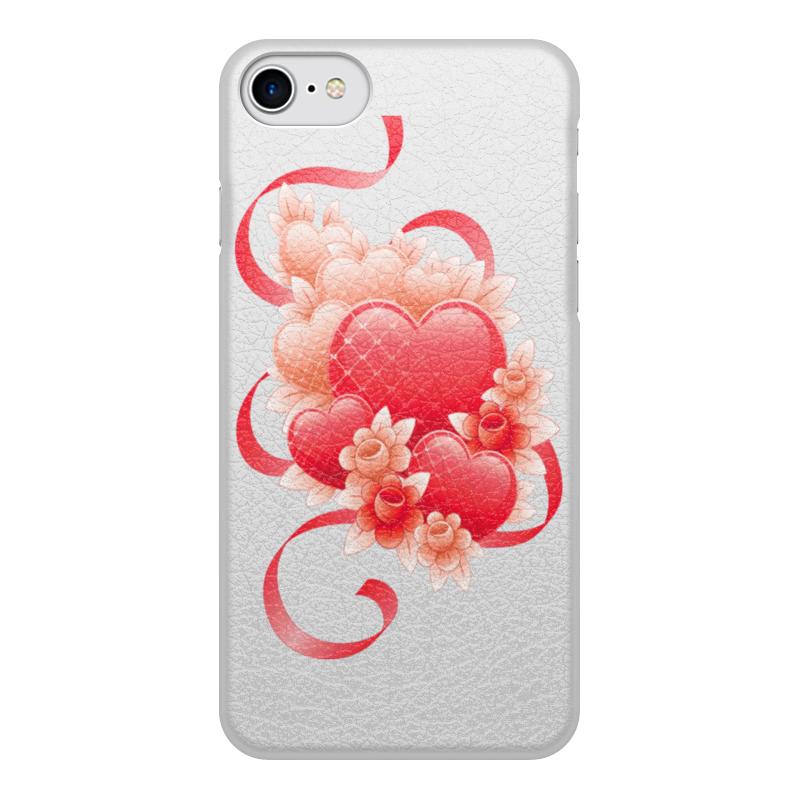 лучшая цена Чехол для iPhone 8, объёмная печать Printio Любимой на 14 февраля