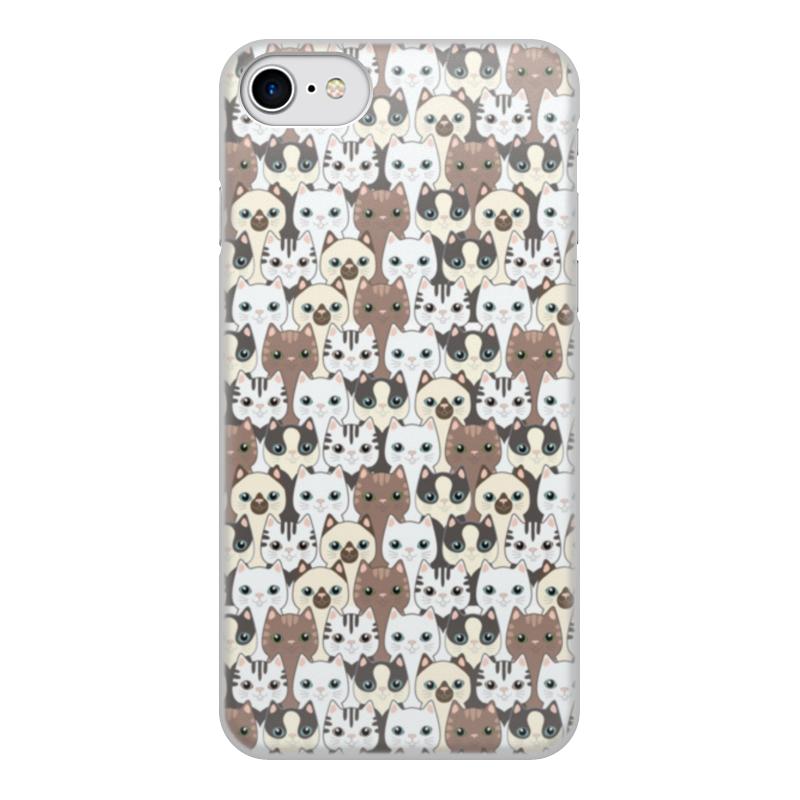 Чехол для iPhone 8, объёмная печать Printio Котики чехол для iphone 8 объёмная печать printio буря красок