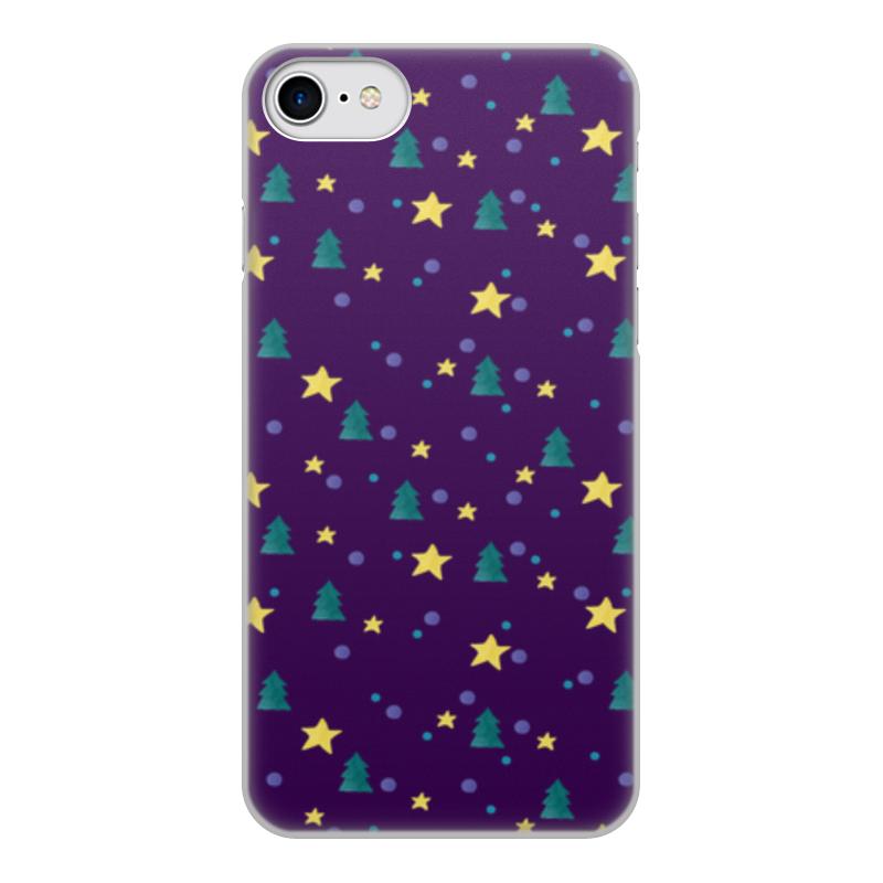 Чехол для iPhone 8, объёмная печать Printio Елки и звезды
