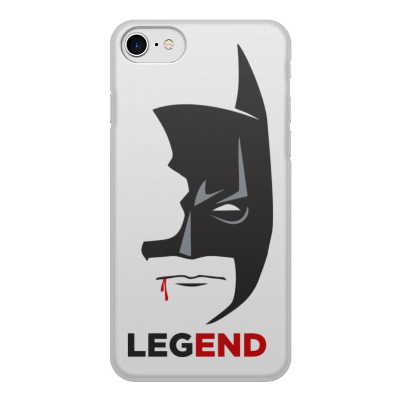 Чехол для iPhone 8, объёмная печать Printio Бэтмен (batman) чехол для iphone 5 5s объёмная печать printio бэтмен batman