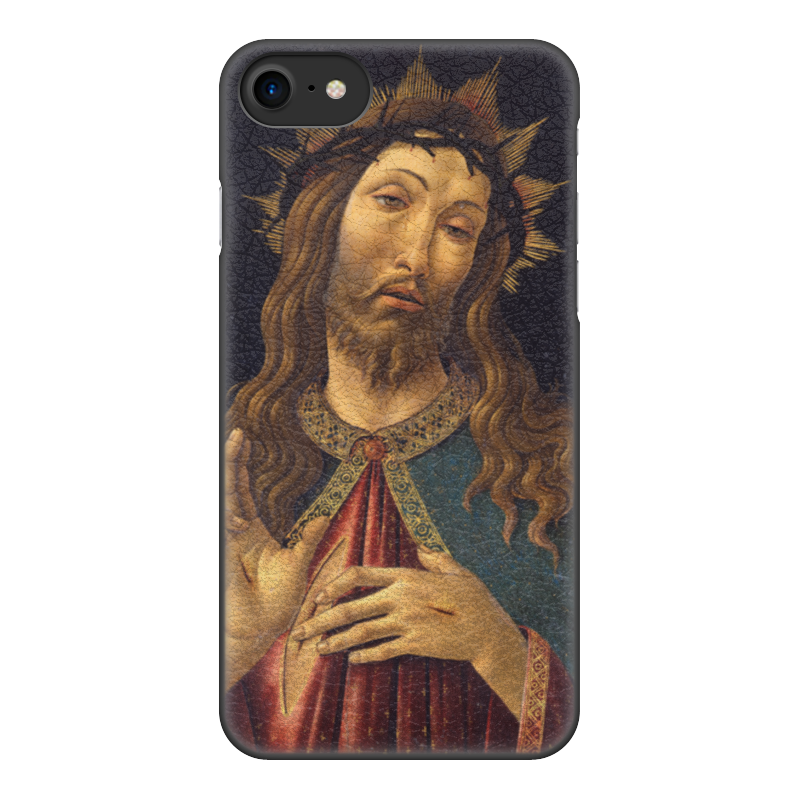 Чехол для iPhone 8, объёмная печать Printio Христос в терновом венце (боттичелли) вышивка бисером молящийся христос