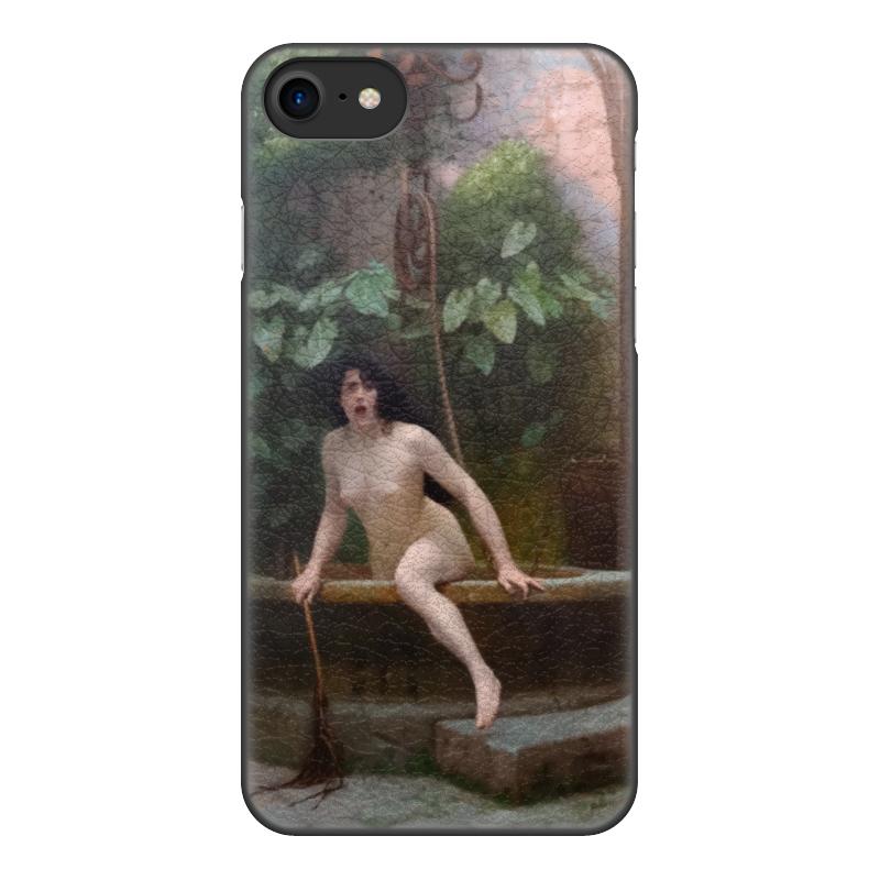Чехол для iPhone 8, объёмная печать Printio Истина, выбирающаяся из колодца (жан-леон жером) чехол для iphone 4 глянцевый с полной запечаткой printio пигмалион и галатея жан леон жером
