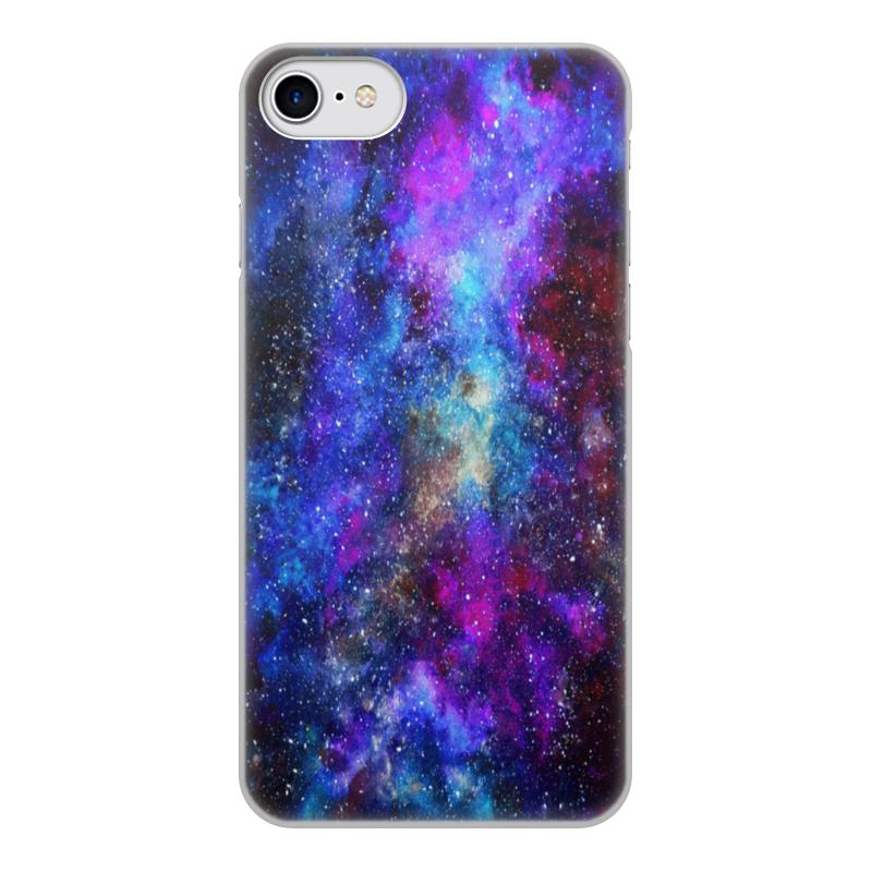Чехол для iPhone 8, объёмная печать Printio Космос (пурпурно-синий)