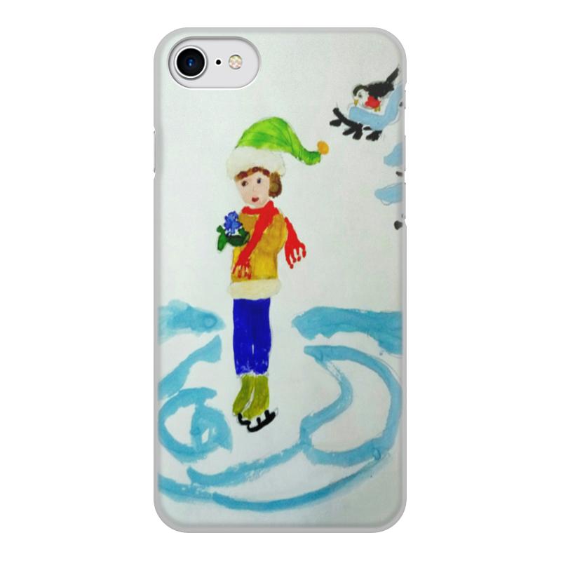 Чехол для iPhone 8, объёмная печать Printio Зимние забавы зимние забавы раскраска