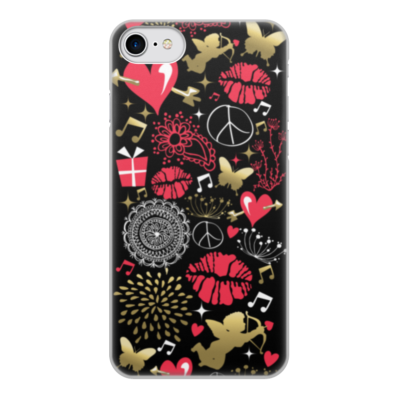 Чехол для iPhone 8, объёмная печать Printio Валентинка цена и фото