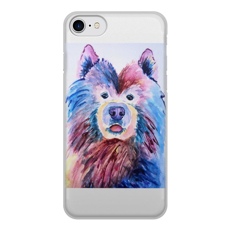 Фото - Чехол для iPhone 8, объёмная печать Printio Игривый пёсик чехол для iphone 5 глянцевый с полной запечаткой printio deadpool vs punisher