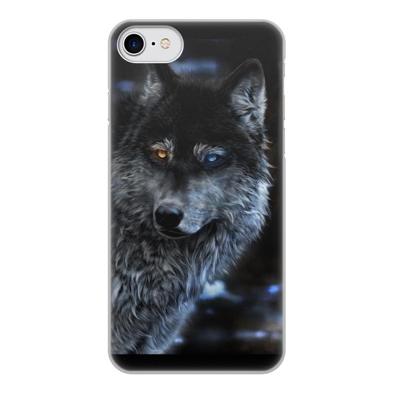 Чехол для iPhone 8, объёмная печать Printio Волки фэнтези. седой волк чехол для iphone 8 объёмная печать printio мишка и волк