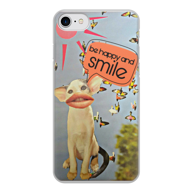 Чехол для iPhone 8, объёмная печать Printio Be happy and smile чехол для ноутбука 14 printio be mine